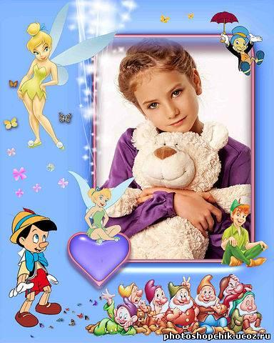 Детская рамка для фотошопа мультики